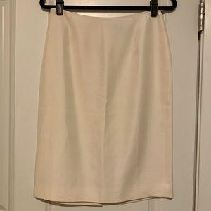LOFT Ivory Pencil Skirt